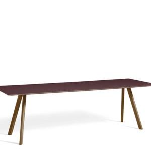 HAY CPH30 Table - 250x90cm - Valnød - Burgundy Linolium