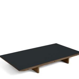 HAY CPH30 Tillægsplade - Valnød - Dark Grey Linolium - B:90cm.