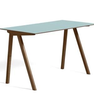 HAY CPH90 Desk - Valnød - Aquavert Linolium - Mat Lak