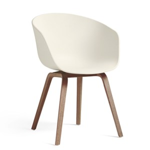 Hay About A Chair (AAC22) - Cream Hvid - Valnød