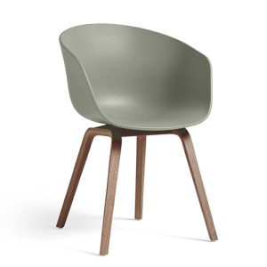 Hay About A Chair (AAC22) - Dusty Green - Valnød