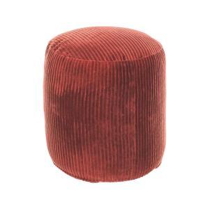 LAFORMA Cadenet corduroy puf, rund - terracotta fløjl (Ø40)