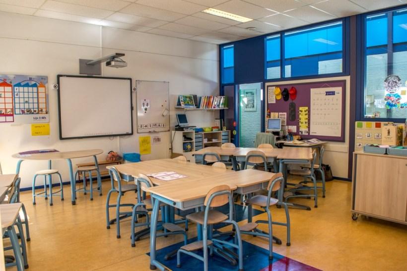 Het klaslokaal van juf Linda