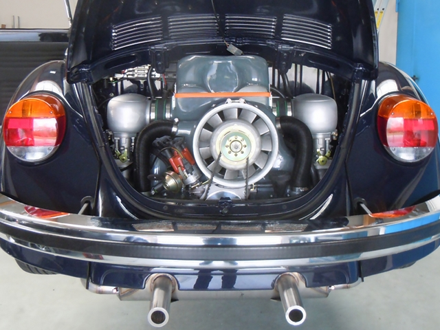 Käfer Cabrio mit neuem KLAUS-Motor