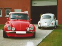 1303 Cabrio mit Cibies am Lehmstich im Kalletal, fotografiert Ender der 1990er Jahre