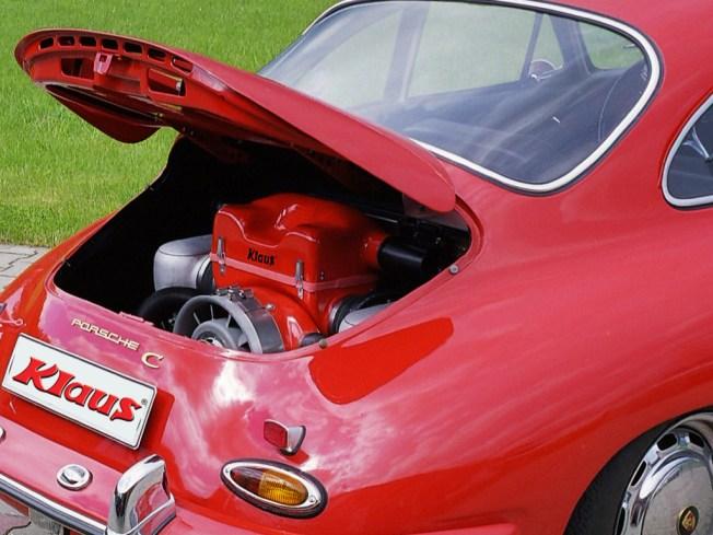 KLAUS Typ 4 Motor im Porsche 356