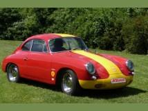 Porsche 356 C Outlaw mit KLAUS Typ 4 Motor Frontansicht