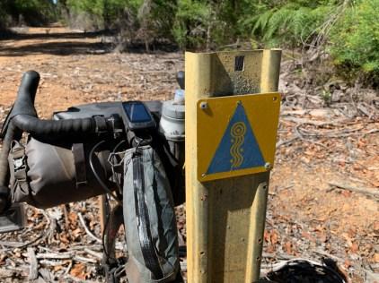 Munda Biddi trail markings