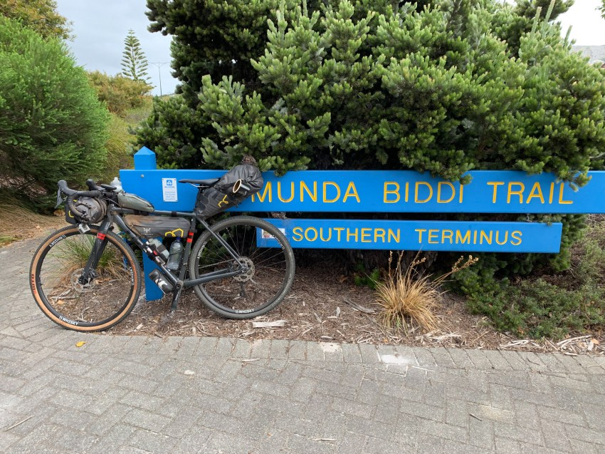bike at the southern terminus of the trail
