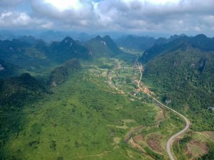 Looking north along the HCMH, a few kilometers west of Phong Nha Ke Bang National Park