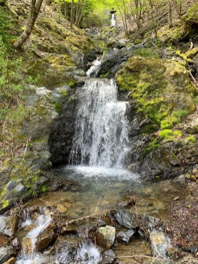 Waterfalls along the forest road to refresh and replenish my water supply