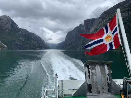 The ferry ride from Lysebotn to Lauvvik took roughly three hours.