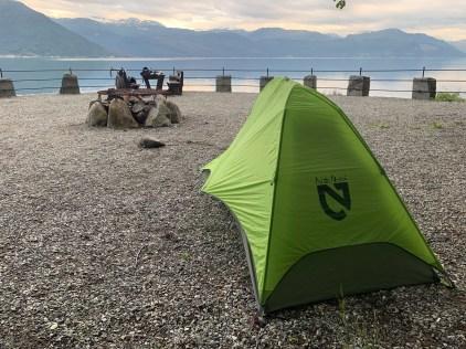 Last campsite along Hardangerfjord before making it to Bergen