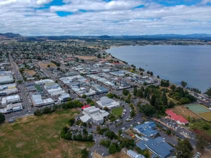 Aerial view of Lake Taupo