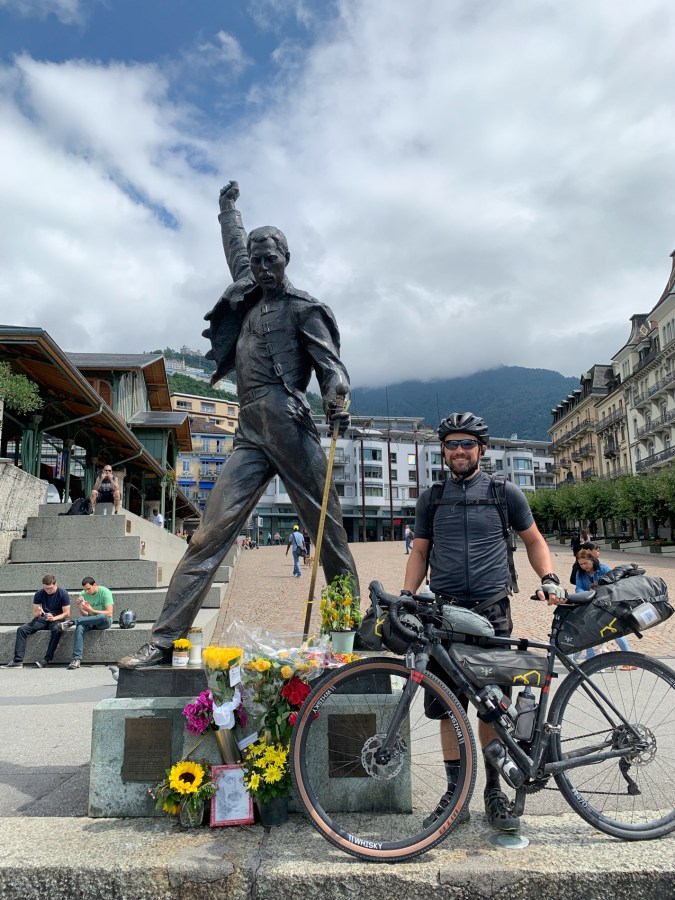 At the finish line: The Freddie Mercury statue on the seaside promenade in Montreux