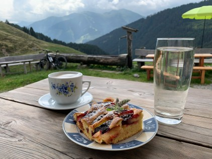 Time for coffee, plum cake and elderberry juice at Wirtsalm close to Saalbach