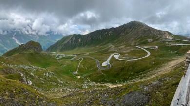 The final set of hairpin turns before Fuschertörl on the Grossglockner High Alpine Road