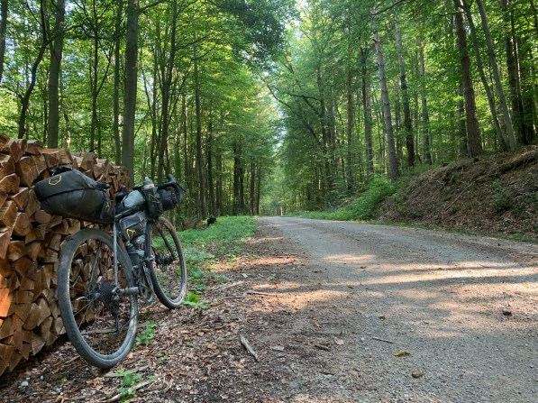 Entering familiar territory, making it through the Vienna Woods on a mix of paved roads and forest trails