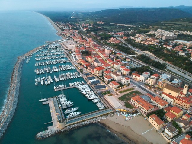 A small town along the Etruscan Coast and very much quiet in the tourist post-season.
