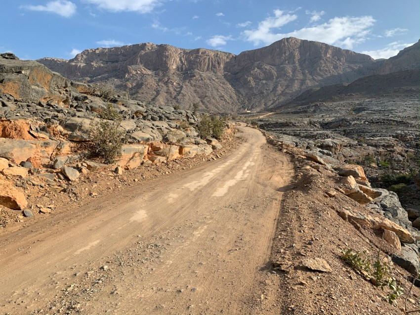 On the upper elevations during the approach of Jebel Shams