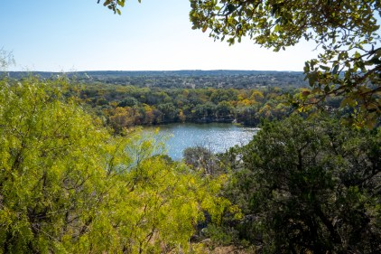 Fall colors on display at Inks Lake State Park