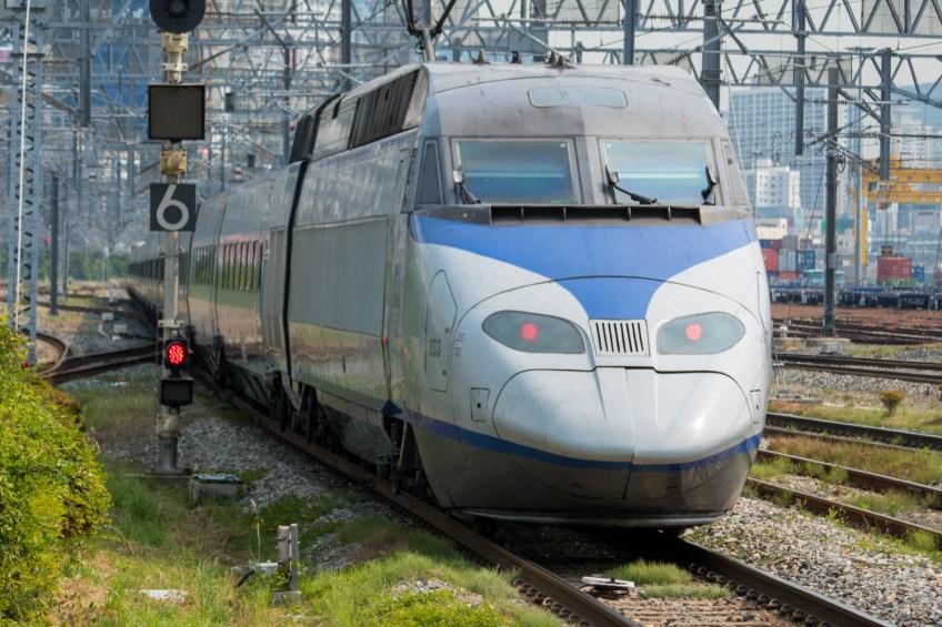 Taking a KTX train back to Seoul