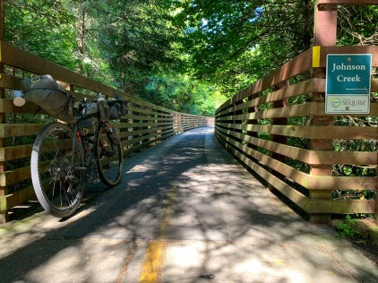 a multi-use train trestle, converted to a trail