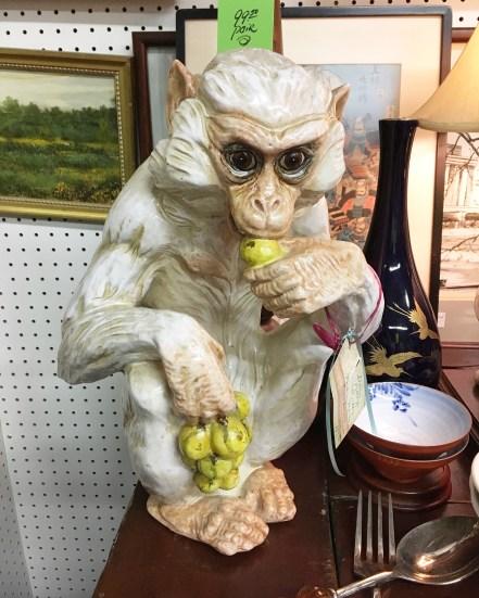 Monkey statue.
