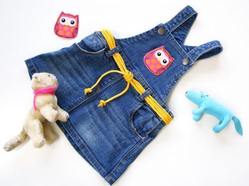 Buegelapplikation Kinder-Jeanskleid Hero