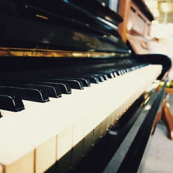 Piano keys #upright #piano #bokeh