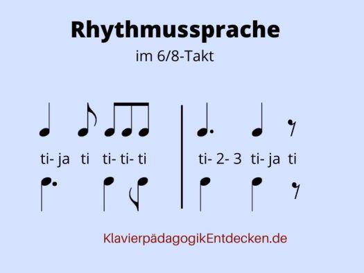 Rhythmussprache, Rhythmus zählen, Rhythmus Notenwerte