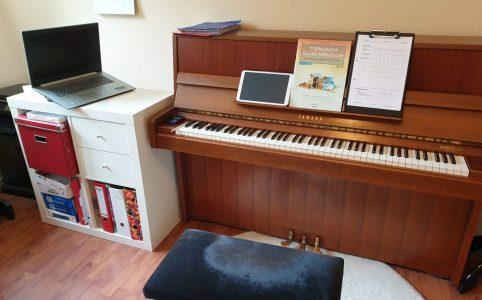 online unterrichten, Klavierunterricht online