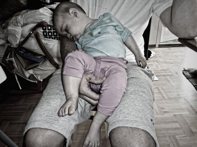 Efter en rejäl middag blir man trött