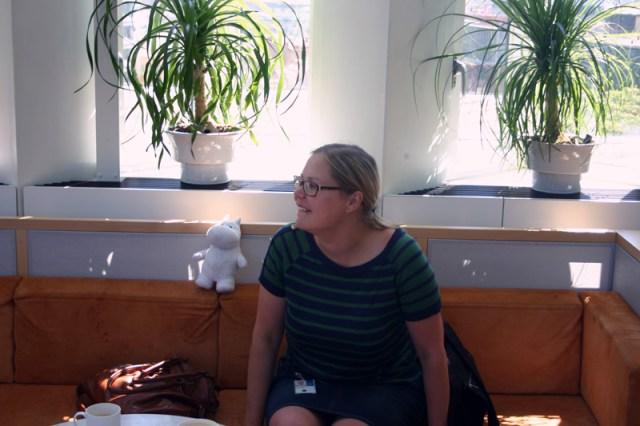 Riksbanks lunch med Johanna och ett besök på deras takterass