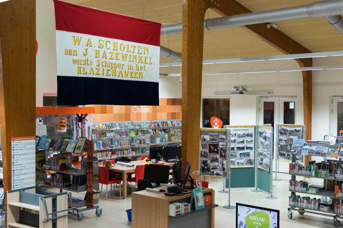 replica vlag klazienaveen, bibliotheek