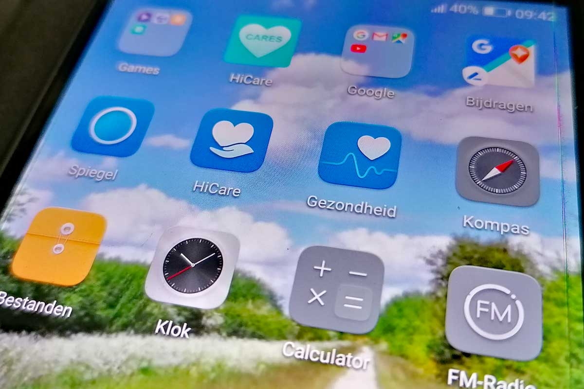 Mobiele-telefoon-scherm