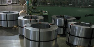 Steel coils ready for shipment