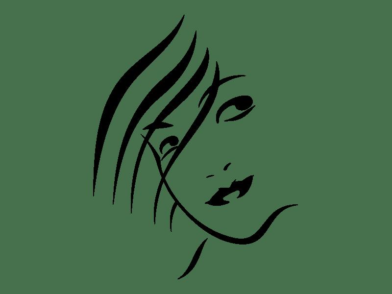 Silhouette Frau Wandtattoo Junges Gesicht Wandtattoos Frauen