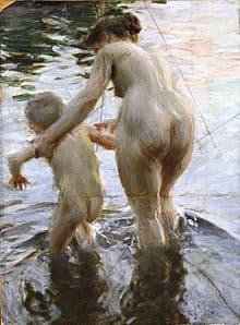 Gouache-Bild, Anders Zorn