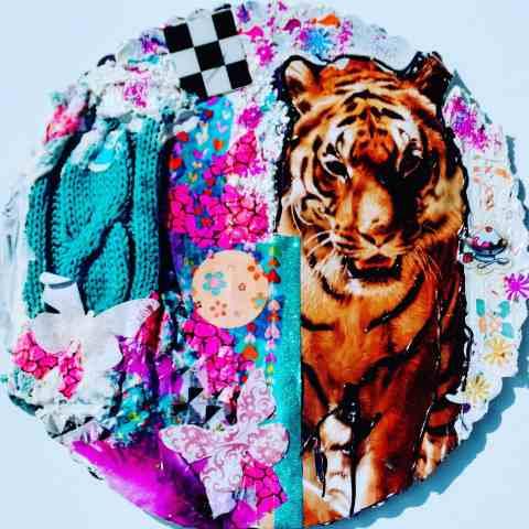 Collage mit Tiger