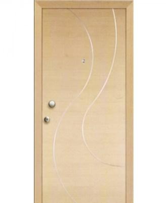 Θωρακισμενή πόρτα ασφαλείας ταν με άσπρες γραμμές