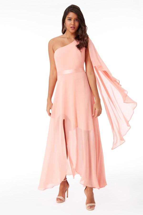 Virsikuvärvi pidulik kleit