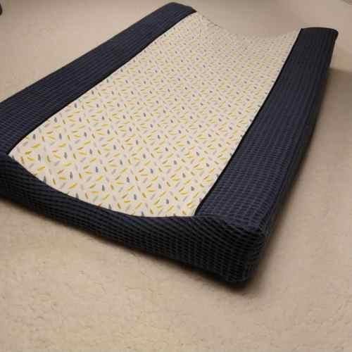 wafel jeans blauw kruikzak