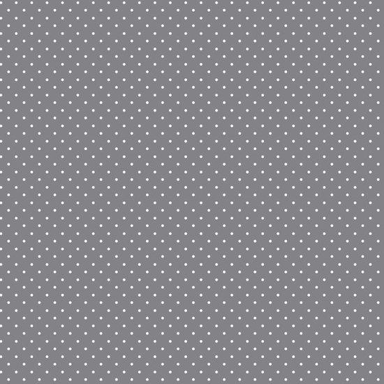 katoen grijs witte kleine stipjes