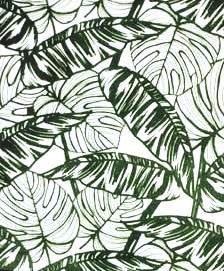 katoen groen jungleblad