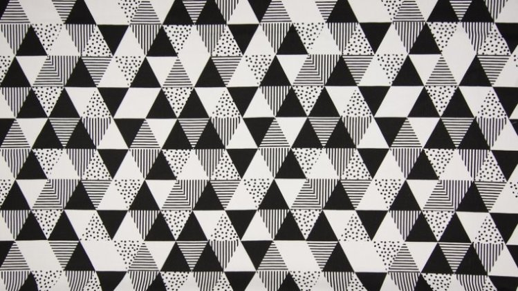 katoen wit zwart triangel