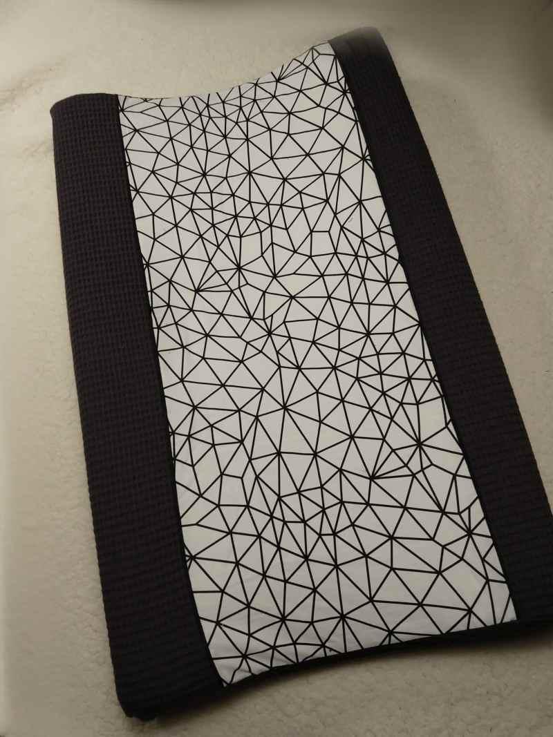 Wafel aankleedkussenhoes donker grijs