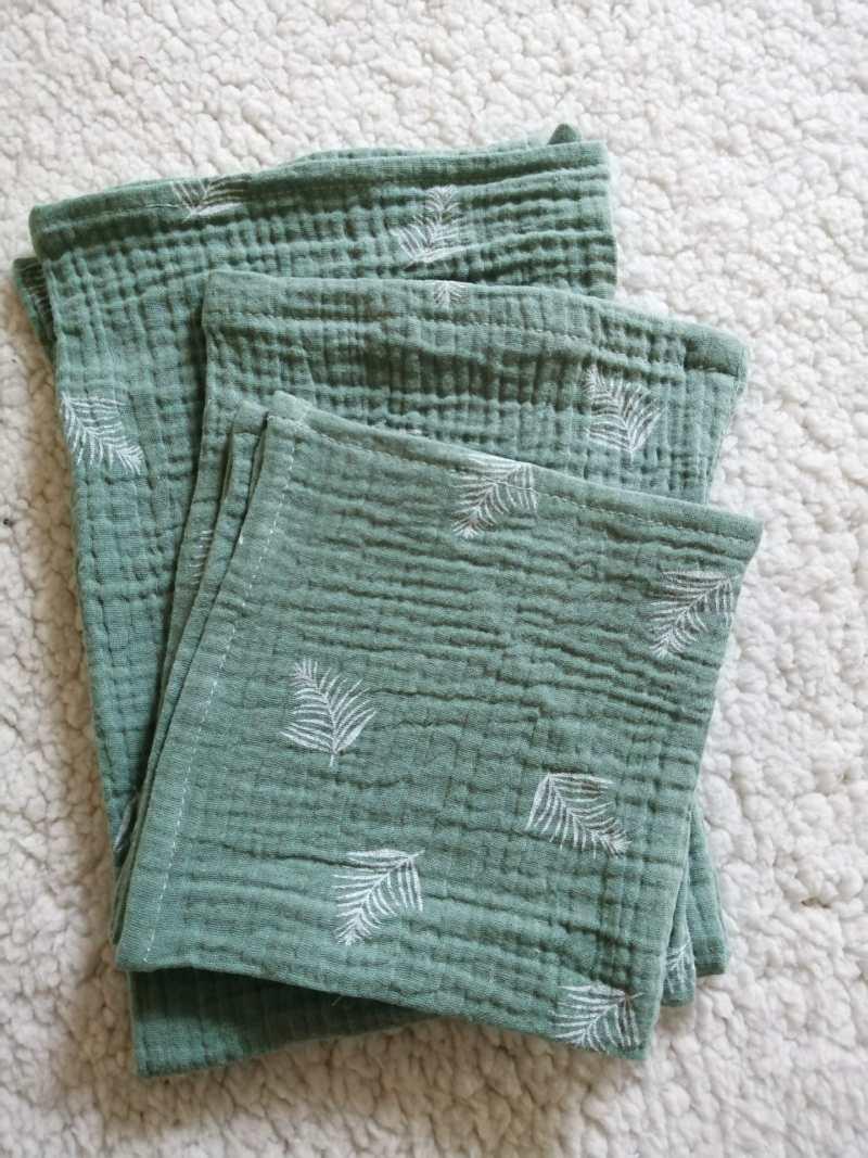 hydrofiel, hydrofielsetje, oud groen, spuugdoek, washandje, luier, kraamcadeau, handgemaakt