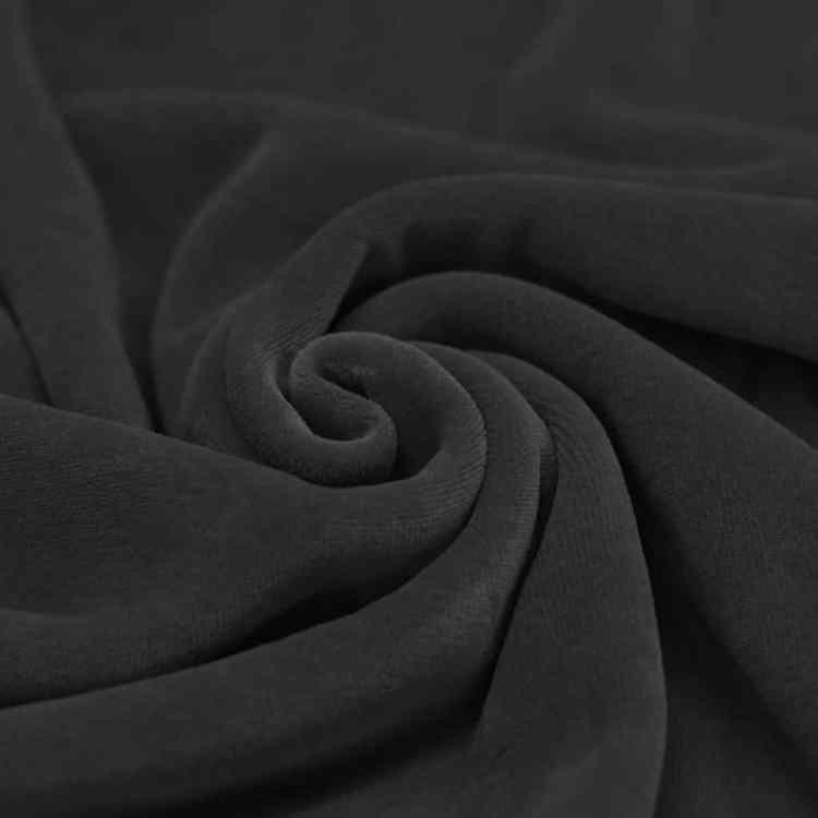 Velour donker grijs