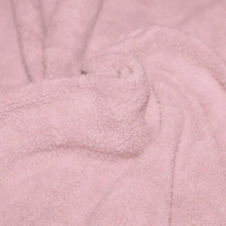 oud roze fleece katoen